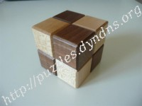 2 Step Karakuri Japanese Cube Puzzle Box #3